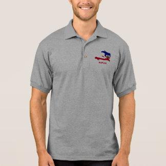 ハイチの地図 ポロシャツ