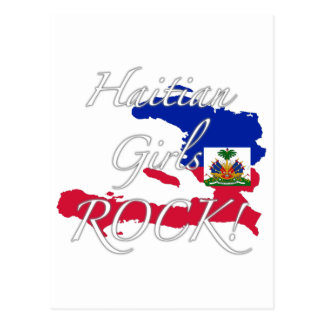 ハイチの女の子の石! 葉書き
