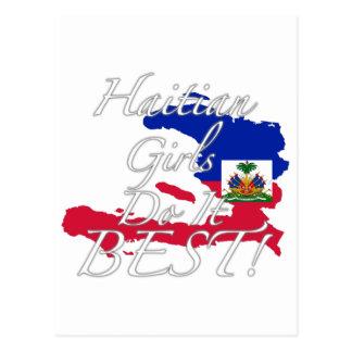 ハイチの女の子は最も最高のなそれをします! ポストカード