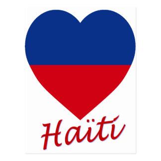 ハイチの市民旗のハート はがき