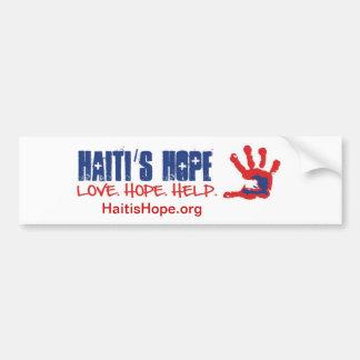 ハイチの希望のバンパーステッカー バンパーステッカー