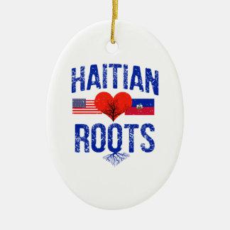 ハイチの旗のデザイン セラミックオーナメント