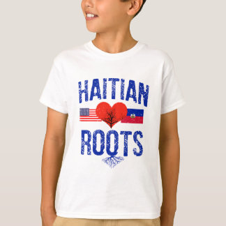 ハイチの旗のデザイン Tシャツ