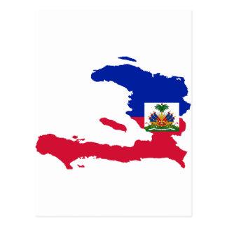 ハイチの旗の地図HT 葉書き