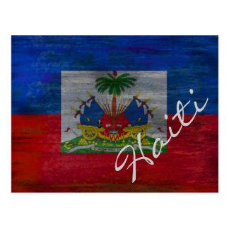 ハイチの旗-ハイチの旗-個人化して下さい はがき