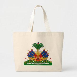 ハイチの紋章付き外衣 ラージトートバッグ
