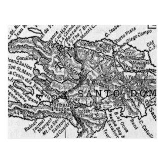 ハイチ(1911年)のヴィンテージの地図 はがき