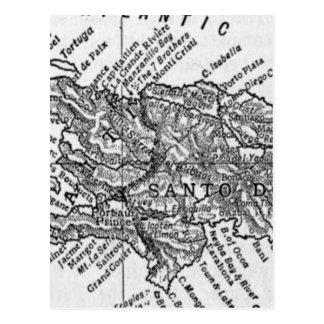 ハイチ(1911年)のヴィンテージの地図 ポストカード