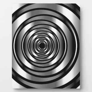 ハイテクな金属リングや輪の背景 フォトプラーク