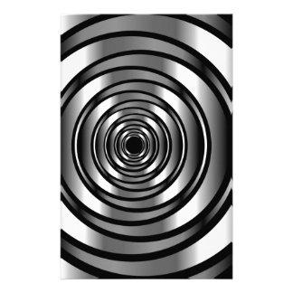 ハイテクな金属リングや輪の背景 便箋