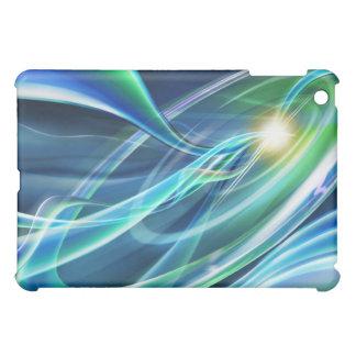 ハイテクな青緑のネオンライト iPad MINIケース