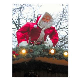 ハイデルベルクのクリスマスの市場、屋根のサンタ ポストカード