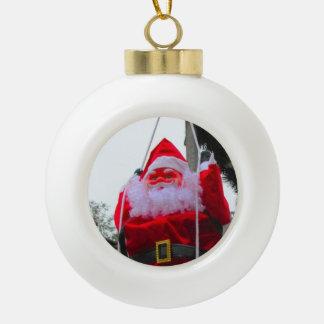 ハイデルベルクのクリスマスの市場、振動サンタ セラミックボールオーナメント