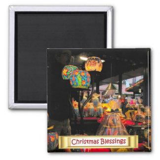 ハイデルベルクのクリスマスの市場、蝋燭ライト マグネット