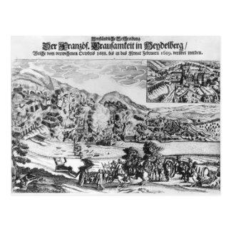 ハイデルベルクの取得および破壊 ポストカード