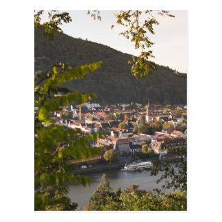 ハイデルベルクの古い町の眺め ポストカード
