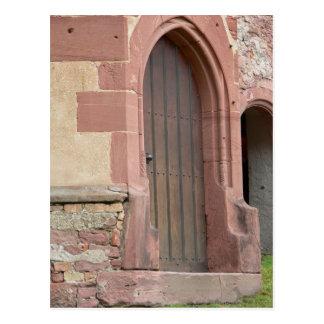ハイデルベルクの城のドアの郵便はがき ポストカード