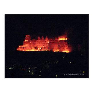 ハイデルベルクの城の焼却 ポストカード