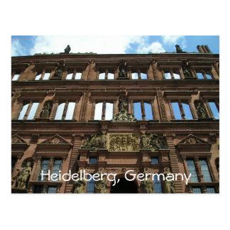 ハイデルベルクドイツの城の建築の終わり ポストカード