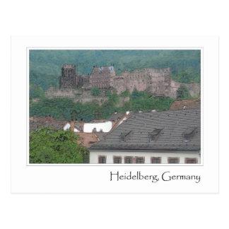 ハイデルベルクドイツの城 ポストカード