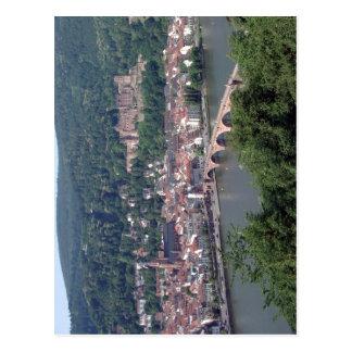 ハイデルベルク、ドイツからの眺めは信用Licを満足させます ポストカード