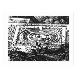ハイデルベルク、Hortus Palatinus (engraviの迷路 ポストカード