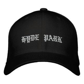 ハイドパークのジッパー 刺繍入りキャップ