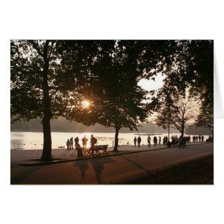 ハイドパークの日没 カード