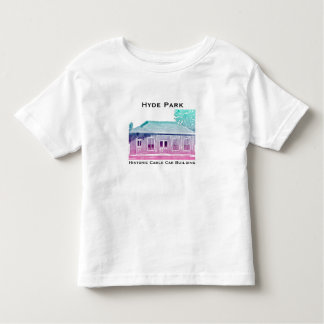 ハイドパークの歴史的なケーブル・カーの幼児のTシャツ トドラーTシャツ