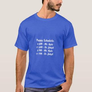 ハイド子犬のスケジュールの氏およびJekyll先生 Tシャツ