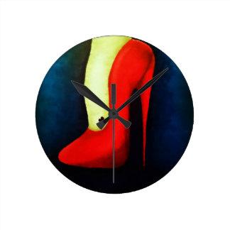 ハイヒールの時計 ラウンド壁時計