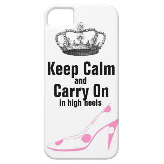 ハイヒールの靴のKeep Calm and Carry On iPhone SE/5/5s ケース