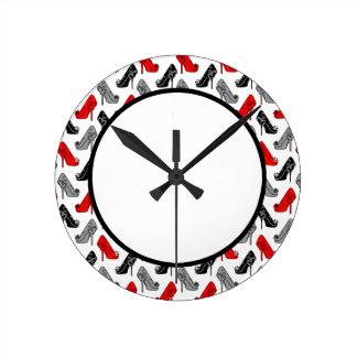 ハイヒール ラウンド壁時計