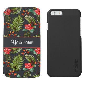 ハイビスカスおよびやし葉状体 INCIPIO WATSON™ iPhone 5 財布型ケース