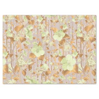 ハイビスカスによっては真新しい緑の銅の花柄が開花します 薄葉紙