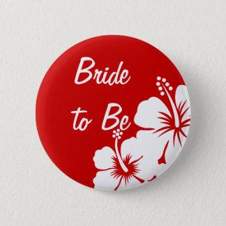 ハイビスカスによっては結婚式が開花します 5.7CM 丸型バッジ