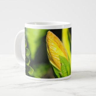 ハイビスカスのつぼみ ジャンボコーヒーマグカップ
