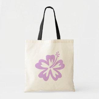 ハイビスカスのアロハ花のラベンダー トートバッグ