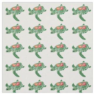 ハイビスカスのウミガメ(honu)材料 ファブリック