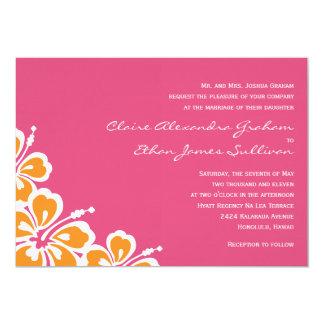 ハイビスカスの歓喜の結婚式招待状-ツツジ- カード