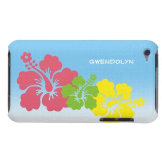ハイビスカスの熱帯花の花のトリオのハワイアン Case-Mate iPod TOUCH ケース