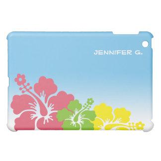 ハイビスカスの熱帯花の花のトリオのハワイアン iPad MINIカバー