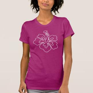 ハイビスカスの花のイラストレーションのTシャツ Tシャツ