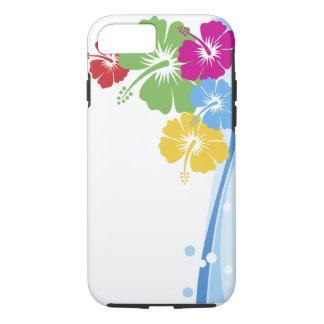 ハイビスカスの花のファッションの罰金の花柄 iPhone 8/7ケース