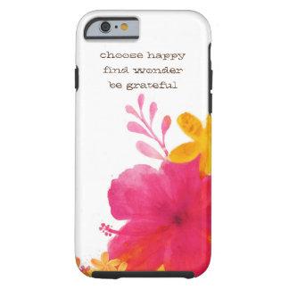 ハイビスカスの花のIphone 6sカバー ケース