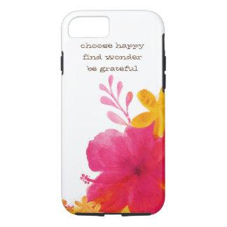 ハイビスカスの花のiPhone 7カバー iPhone 8/7ケース