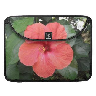ハイビスカスの花のMacBookの美しいオレンジ袖 MacBook Proスリーブ