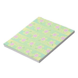 ハイビスカスの花柄パターン ノートパッド