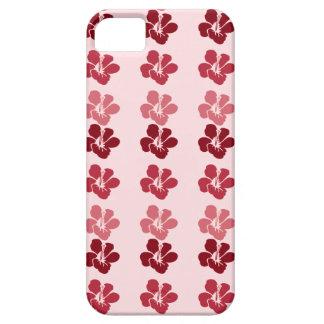 ハイビスカスの花: あずき色の赤いローズピンクのiphoneの箱 iPhone SE/5/5s ケース
