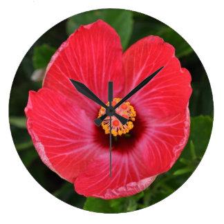 ハイビスカスの花 ラージ壁時計